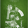 Foehl Revolver Patent Drawing From 1894 - Green by Aged Pixel