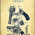 Foehl Revolver Patent Drawing From 1894 - Vintage by Aged Pixel