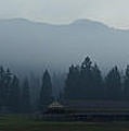 Fog Forming At Dusk In The Rogue Valley by Mick Anderson