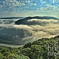 Fog In The Grand View Valley by Adam Jewell