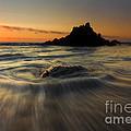 Fogarty Creek Sunset by Mike  Dawson