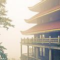 Foggy At The Reading Pagoda by Trish Tritz