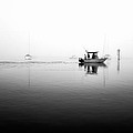 Foggy Fishing Trip In Black And White by Priya Ghose