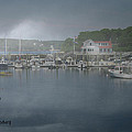Foggy Coast Of Maine by Gary Benson