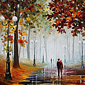 Foggy Morning - Palette Knife Contemporary Landscape Oil Painting On Canvas By Leonid Afremov - Size by Leonid Afremov