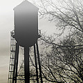 Foggy Tower Silhouette by Kristie  Bonnewell