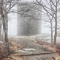 Foggy View Of The Summit Of Mount Battie by Jeff Folger