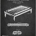 Folding Billiard Table Patent From 1887 - Charcoal by Aged Pixel
