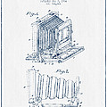 Folding Camera Patent Drawing From 1904 - Blue Ink by Aged Pixel