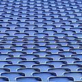 Folding Plastic Blue Seats by Dutourdumonde Photography