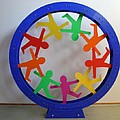 Folk Circle Mandala by Peter Michel