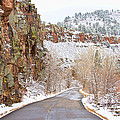Follow The Red Rock Ridge Winter Road  by James BO Insogna