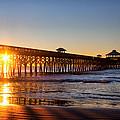 Folly Beach Pier At Sunrise by Lynne Jenkins