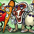 Food Groups Party by Kevin Middleton
