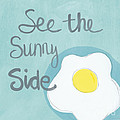 Food- Kitchen Art- Eggs- Sunny Side Up by Linda Woods