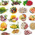 Food On Plates Set by Aleksandr Volkov
