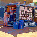 Food Truck Pas De Cochon Dans Ma Salon Montreal Paintings Roadside Diners Carole Spandau Art  by Carole Spandau
