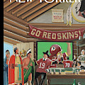 Football Fans Invite People Over For Thanksgiving by Bruce McCall
