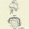 Football Helmet 1924 Patent Art by Prior Art Design
