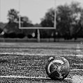 Football In Black And White by Bill Cannon