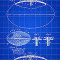 Football Patent 1902 - Blue by Stephen Younts