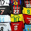 Football Shirts Inside The Grand Bazaar In Istanbul Turkey by Robert Preston
