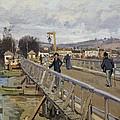 Footbridge At Argenteuil by Alfred Sisley
