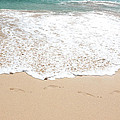 Footprints In The Sand by Athena Mckinzie