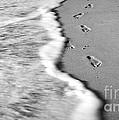 Footprints In The Sand Bw by Robin Lynne Schwind