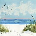 Footprints On The Beach by Nan Wright