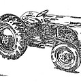 Ford 8n Tractor by Ken Nickle