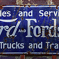 Ford And Fordson Sign by Alan Hutchins