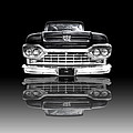 Ford F100 Truck Reflection On Black by Gill Billington