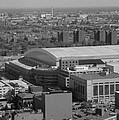 Ford Field Bw by Crystal Hubbard