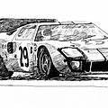 Ford Gt - 40 by David Lloyd Glover