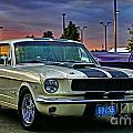 Ford Mustang At Sunset by Randy Harris