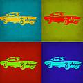 Ford Mustang Pop Art 1 by Naxart Studio