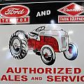 Ford Tractor Sign by Nelson Skinner