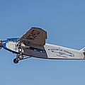 Ford Tri-motor In Flight by Allen Sheffield