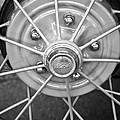 Ford Wheel Emblem -354bw by Jill Reger