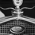 Ford Winged Hood Ornament Black And White by Jill Reger