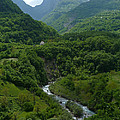 Moraca River And Mountains by Phil Banks
