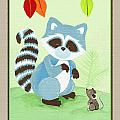Forest Friends - Raccoon  by Cheryl Marie