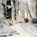 Forest In Winter by Peder Mork Monsted