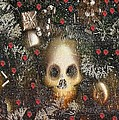 Forest Skull Pop Art by Pepita Selles
