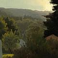 Forested Hills by Albert Bierstadt