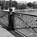 Forever Love In Paris - Black And White by Carol Groenen