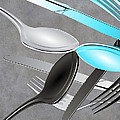 Fork Knife Spoon 4 by Angelina Tamez
