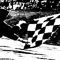 Formula 1 Vintage Checkered Flag by George Pedro