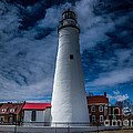 Fort Gratiot Lighthouse From The Water Side by Ronald Grogan